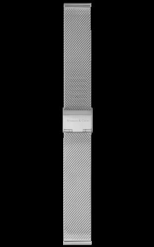 Mesh strap silver