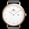Uhr mit schwarzem meshband